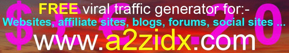 Free viral traffic generator Version 2.0  Free viral marketing system - How to make money online
